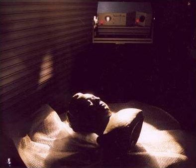 Pl.7 Bernard Mitchell, 3D scanning of death mask PDR, UWIC, Cardiff 2004, Photograph